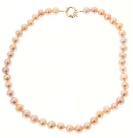 Lavender Cultured Freshwater Pearl Necklace