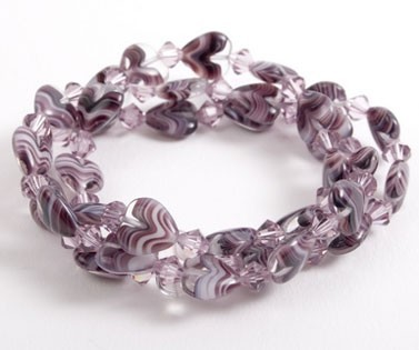 Blackberry Jelly Heart Bracelets