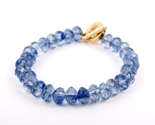 Faceted Tanzanite Quartz Bracelet