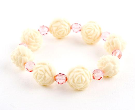 Vintage Ivory Rosebud Crystal Bracelet