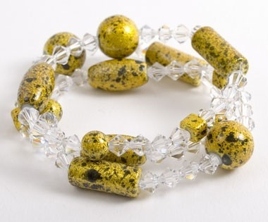 Lemon Space Dust Crackle Bracelets