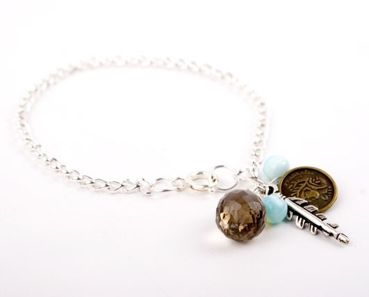 Smokey Quartz Make A Wish Bracelet