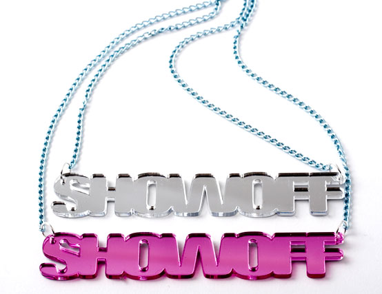 ShowOff Mirror Acrylic Name Necklace