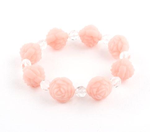 Vintage Pink Rosebud Crystal Bracelet