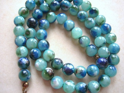 Vintage Blue Cloud Lucite Necklace